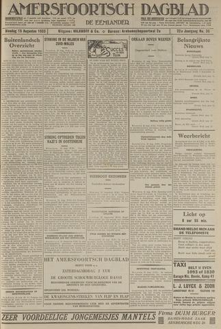Amersfoortsch Dagblad / De Eemlander 1933-08-15
