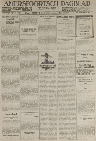 Amersfoortsch Dagblad / De Eemlander 1931-08-06