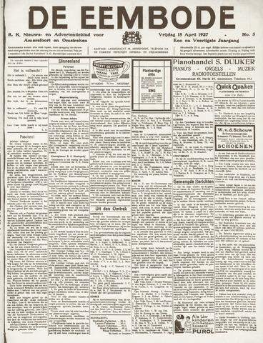 De Eembode 1927-04-15