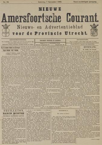 Nieuwe Amersfoortsche Courant 1903-11-07