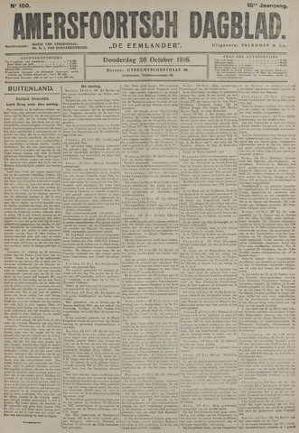 Amersfoortsch Dagblad / De Eemlander 1916-10-26