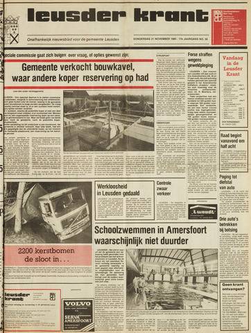 Leusder Krant 1985-11-28