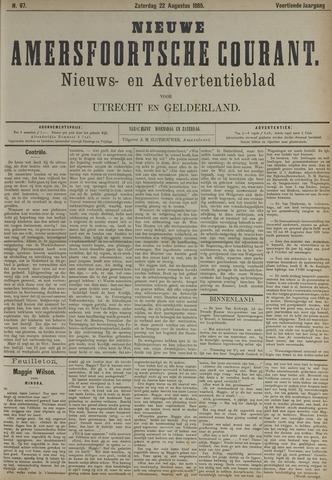 Nieuwe Amersfoortsche Courant 1885-08-22
