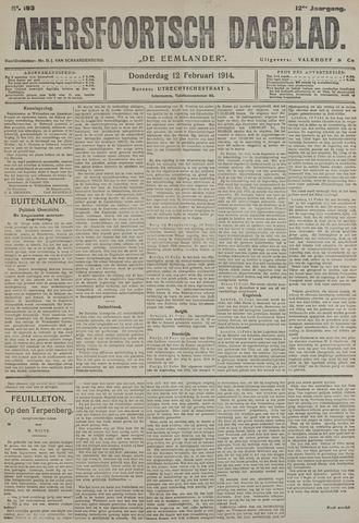 Amersfoortsch Dagblad / De Eemlander 1914-02-12