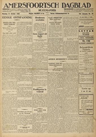 Amersfoortsch Dagblad / De Eemlander 1935-10-21