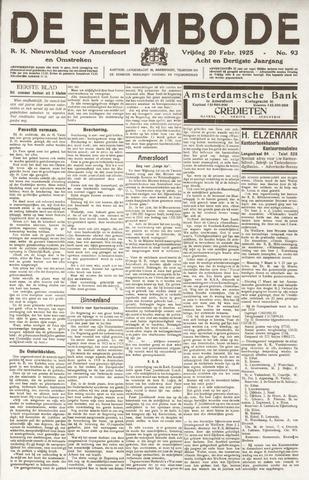 De Eembode 1925-02-20