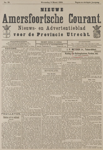 Nieuwe Amersfoortsche Courant 1910-03-09