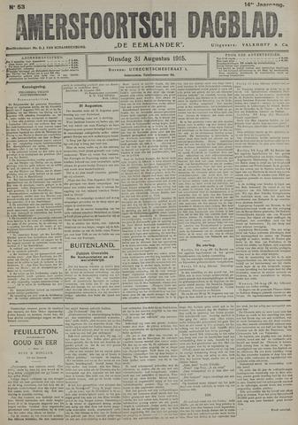 Amersfoortsch Dagblad / De Eemlander 1915-08-31