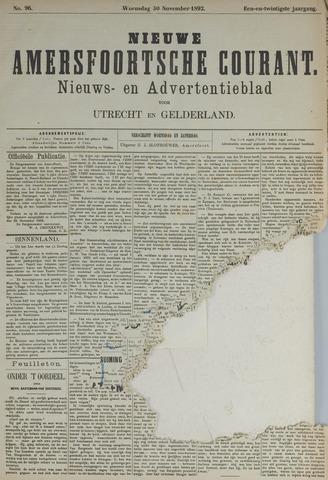 Nieuwe Amersfoortsche Courant 1892-11-30