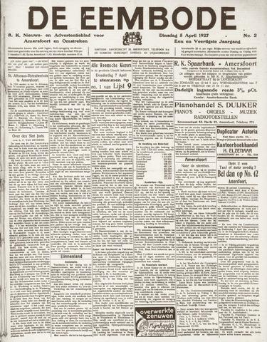 De Eembode 1927-04-05