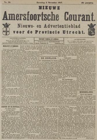 Nieuwe Amersfoortsche Courant 1917-11-03