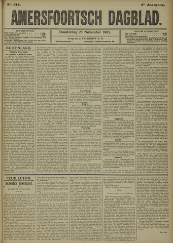 Amersfoortsch Dagblad 1905-11-23