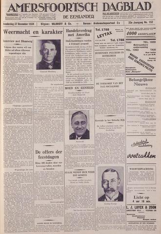 Amersfoortsch Dagblad / De Eemlander 1934-12-27