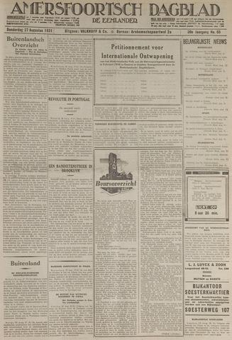Amersfoortsch Dagblad / De Eemlander 1931-08-27