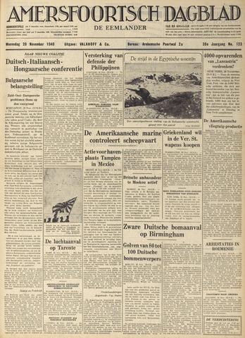 Amersfoortsch Dagblad / De Eemlander 1940-11-20