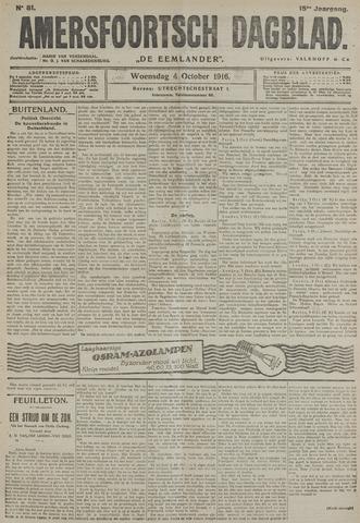 Amersfoortsch Dagblad / De Eemlander 1916-10-04
