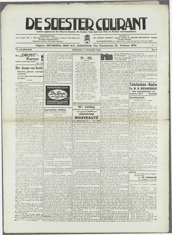 Soester Courant 1938-01-14