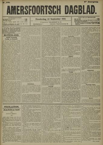 Amersfoortsch Dagblad 1910-09-22