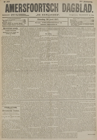 Amersfoortsch Dagblad / De Eemlander 1917-06-26