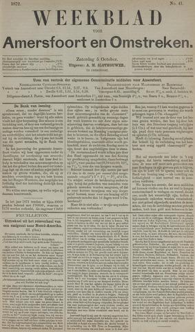 Weekblad voor Amersfoort en Omstreken 1872-10-05