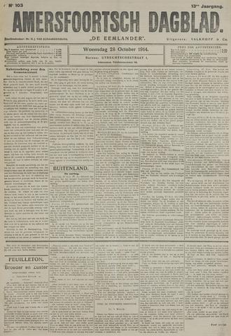 Amersfoortsch Dagblad / De Eemlander 1914-10-28