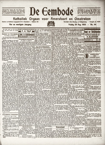 De Eembode 1930-08-29