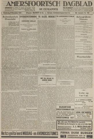 Amersfoortsch Dagblad / De Eemlander 1931-12-24