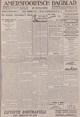 Amersfoortsch Dagblad / De Eemlander 1934-10-13