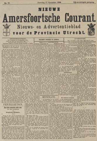 Nieuwe Amersfoortsche Courant 1906-11-17