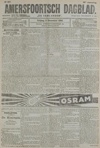 Amersfoortsch Dagblad / De Eemlander 1916-12-08