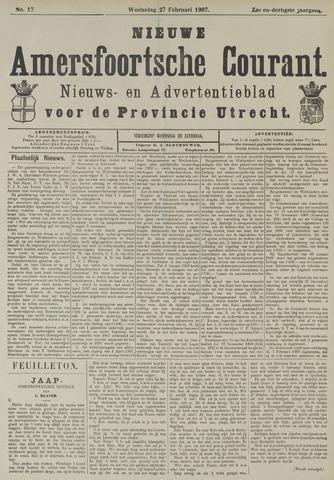 Nieuwe Amersfoortsche Courant 1907-02-27