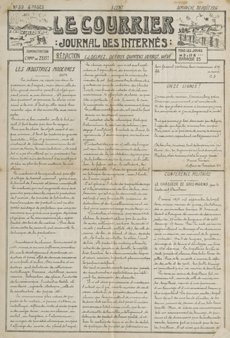 Le Courrier 1916-08-20