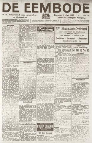 De Eembode 1923-07-17