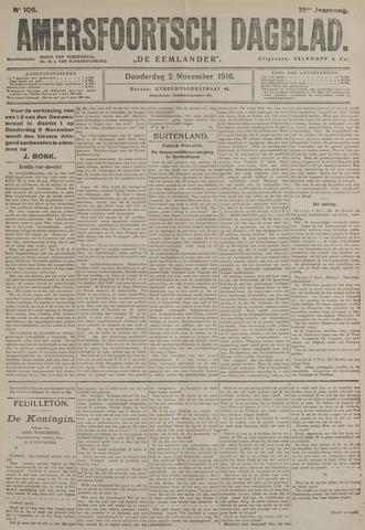 Amersfoortsch Dagblad / De Eemlander 1916-11-02