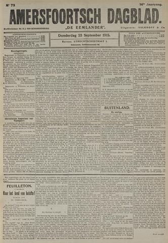Amersfoortsch Dagblad / De Eemlander 1915-09-23