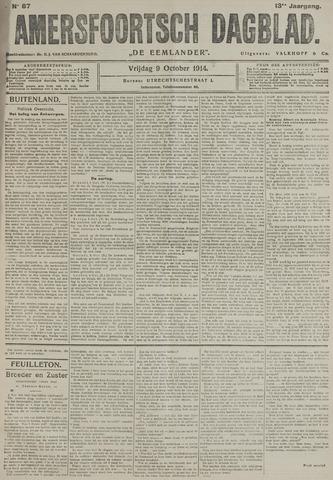 Amersfoortsch Dagblad / De Eemlander 1914-10-09