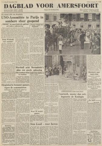 Dagblad voor Amersfoort 1948-09-22