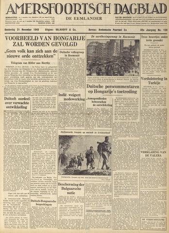 Amersfoortsch Dagblad / De Eemlander 1940-11-21