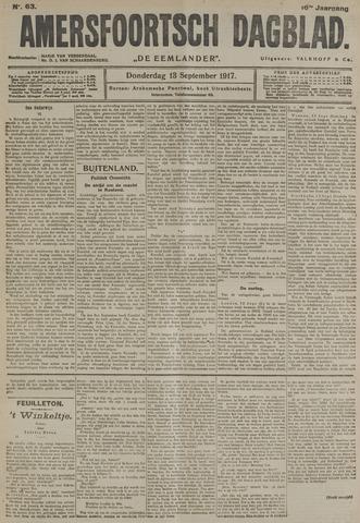 Amersfoortsch Dagblad / De Eemlander 1917-09-13