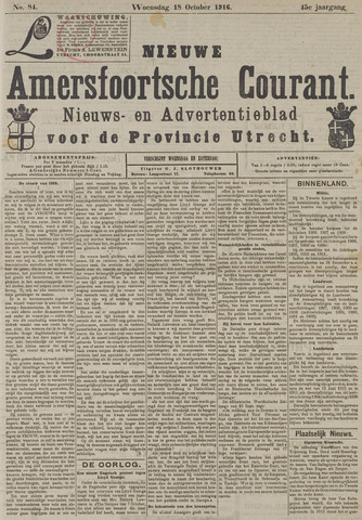 Nieuwe Amersfoortsche Courant 1916-10-18