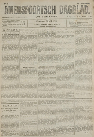 Amersfoortsch Dagblad / De Eemlander 1913-07-02