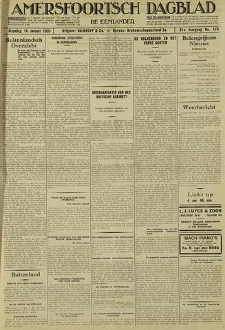 Amersfoortsch Dagblad / De Eemlander 1933-01-16