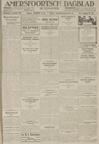 Amersfoortsch Dagblad / De Eemlander 1931-01-15