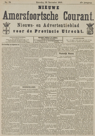 Nieuwe Amersfoortsche Courant 1918-11-23