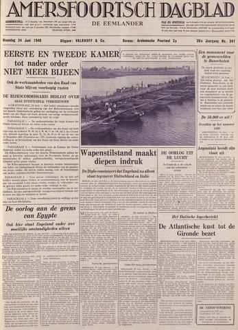 Amersfoortsch Dagblad / De Eemlander 1940-06-24