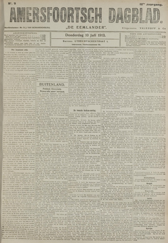 Amersfoortsch Dagblad / De Eemlander 1913-07-10