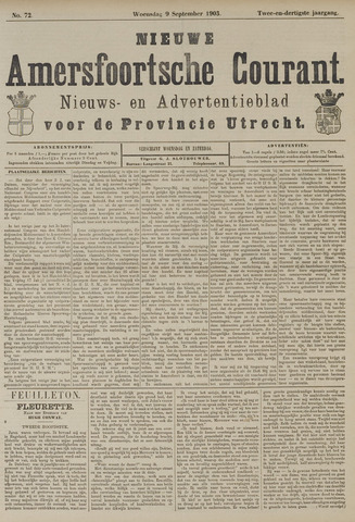 Nieuwe Amersfoortsche Courant 1903-09-09