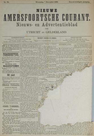Nieuwe Amersfoortsche Courant 1892-12-07