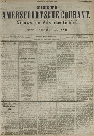 Nieuwe Amersfoortsche Courant 1885-09-02