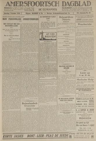 Amersfoortsch Dagblad / De Eemlander 1933-10-07